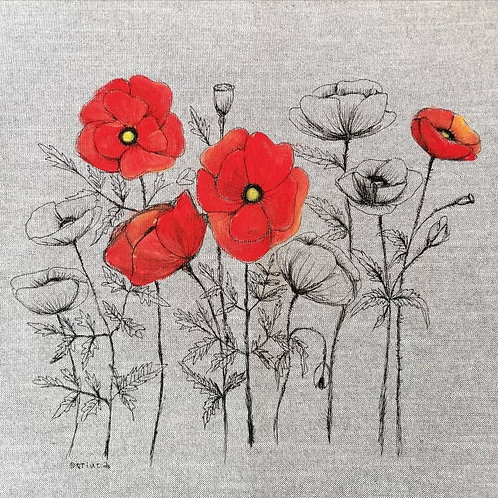 Hand painted Poppies1
