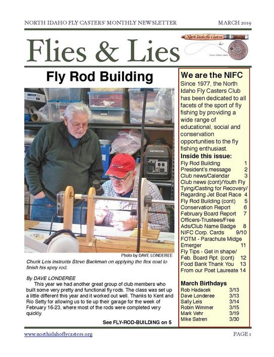 2019 March Flies and Lies Newsletter