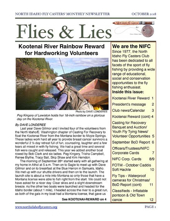 October 2018 Flies and Lies Newsletter