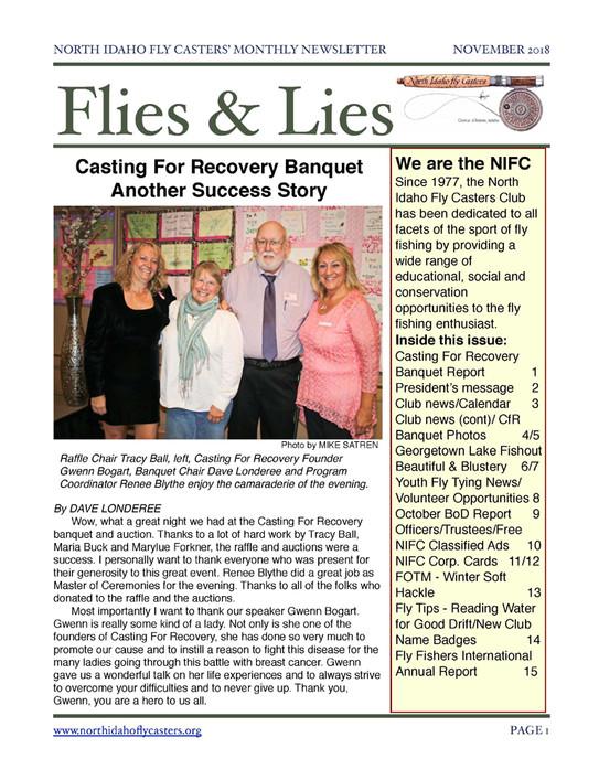 November 2018 Flies and Lies Newsletter