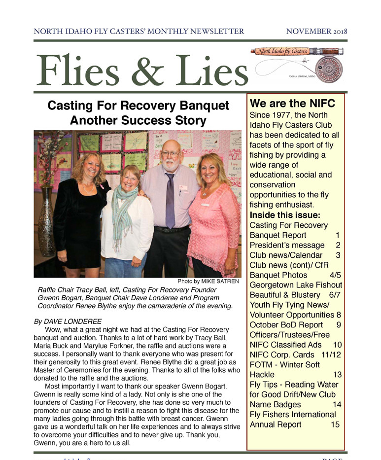 November 2018 Flies and Lies Newsletter