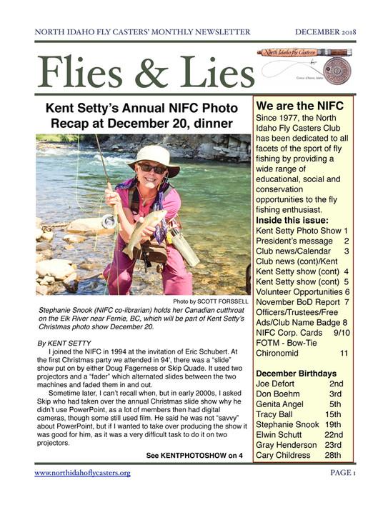 December 2018 Flies and Lies Newsletter
