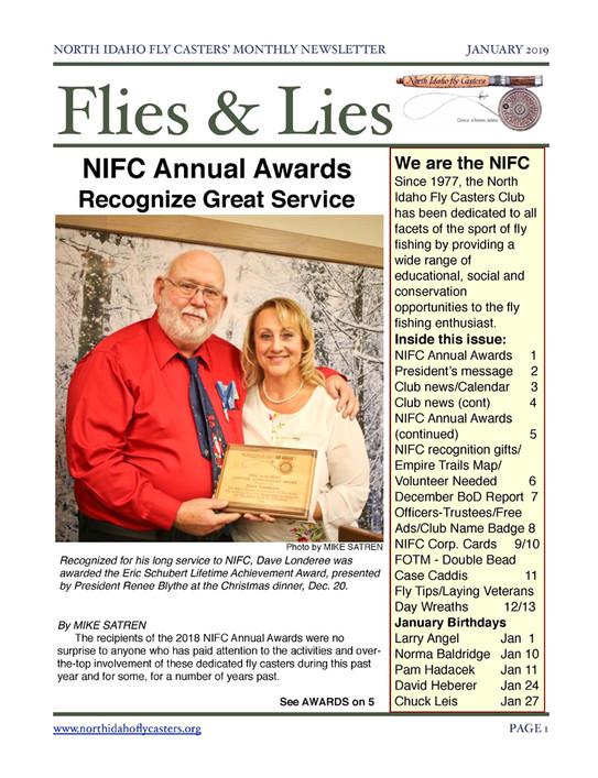 January 2019 Flies and Lies Newsletter