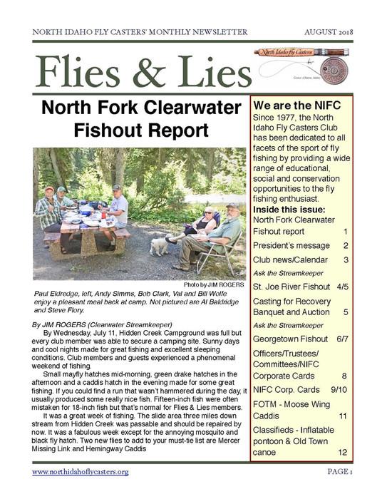 2018 August Flies and Lies Newsletter