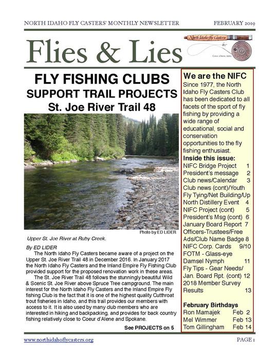 2019 February Flies and Lies Newsletter