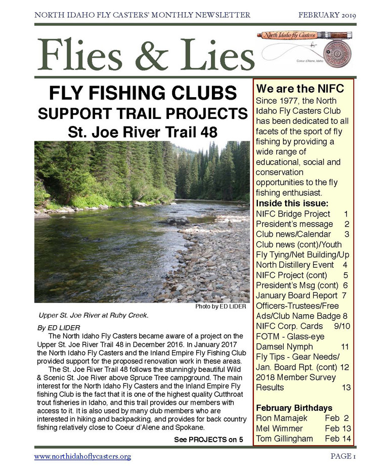 2019 February Flies and Lies Newsletter