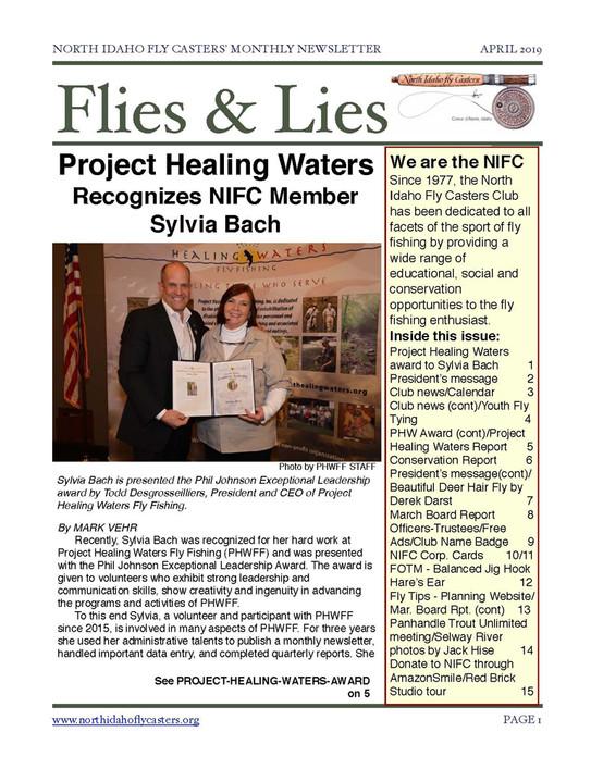 2019 April Flies and Lies Newsletter