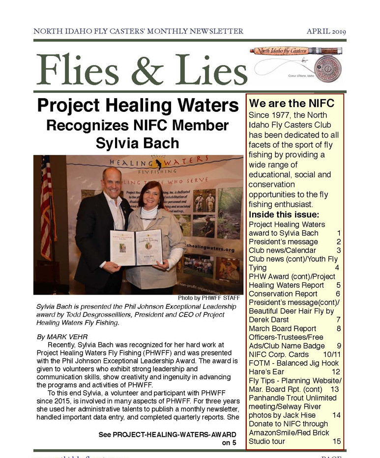 2019 April Flies and Lies Newsletter