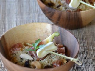 Salade de semoule de couscous aux figues et aux fruits secs