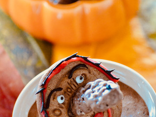Mousse au chocolat Ovomaltine version Halloween