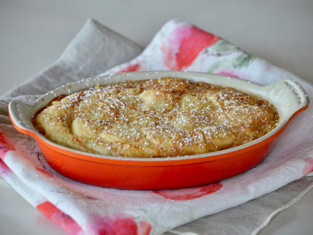 Clafoutis aux pêches blanches