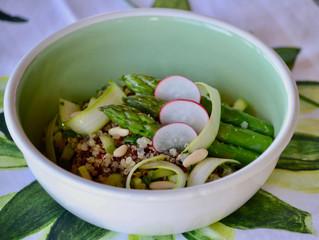 Salade au quinoa et asperges vertes