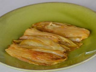 Endives braisées au jus d'orange et caramélisées au sirop d'érable