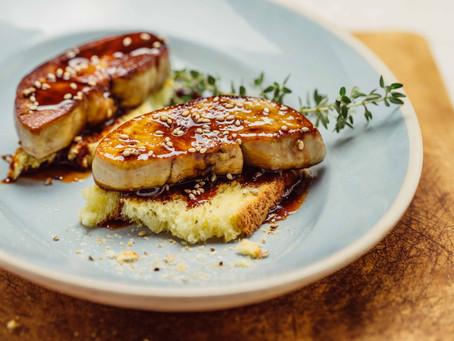 Foie gras snacksà lasauce Ovomaltine