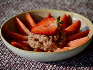 Porridge aux fraises