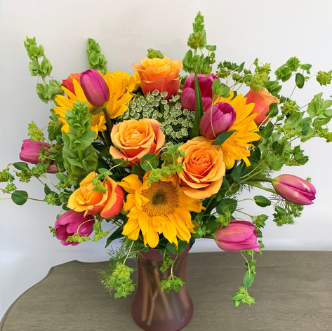 Tulip, Rose & Sunflower Mix