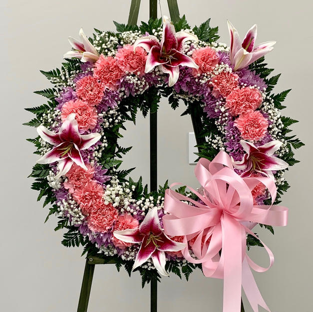 Carnation & Lilly Wreath
