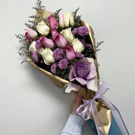 Mixed Rose Wrap Bouquet