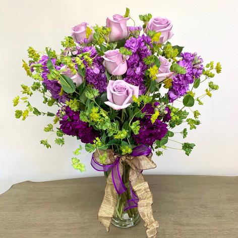 Purple Two Dozen Rose Mix