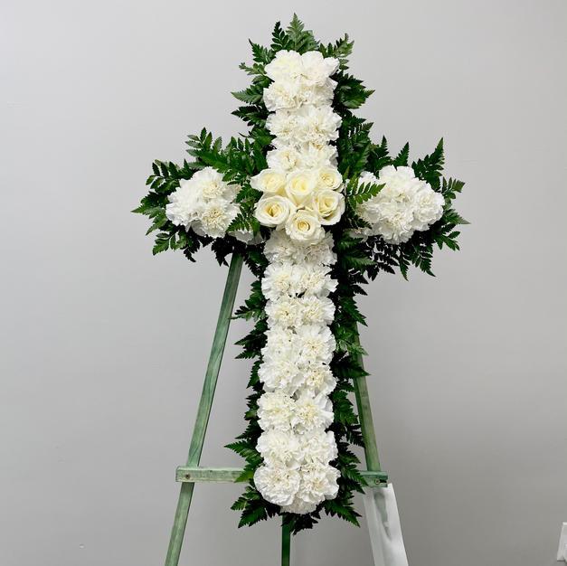 White Carnation Cross