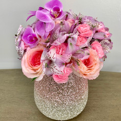 Garden Roses with Orchids