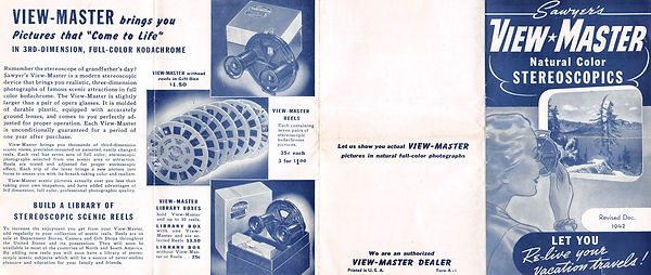 1942 December View-Master Small Brochure