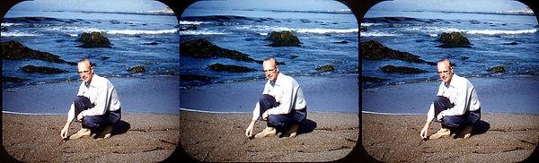 Gordon Smith on the beach by Helen Smith