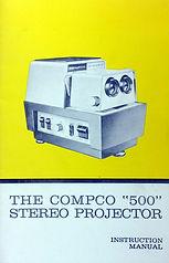 Compco 500 3-D projector manual cover.jp