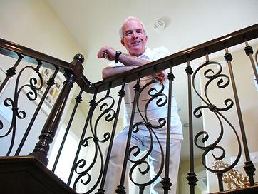 2006 Mike Kessler looking over his stair