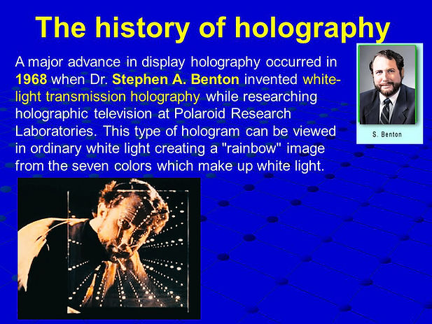 Stephen Benton History of Holography inf