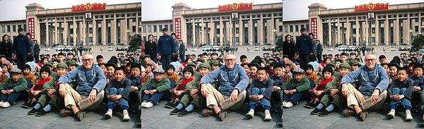 1980_03_xx Paul Wing with kids in Beijin