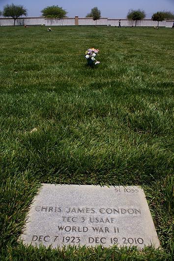 Chris James Condon headstone 1923-2010 b