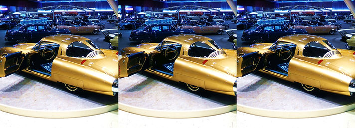 1950s Car Show golden car by Jack Laxer.
