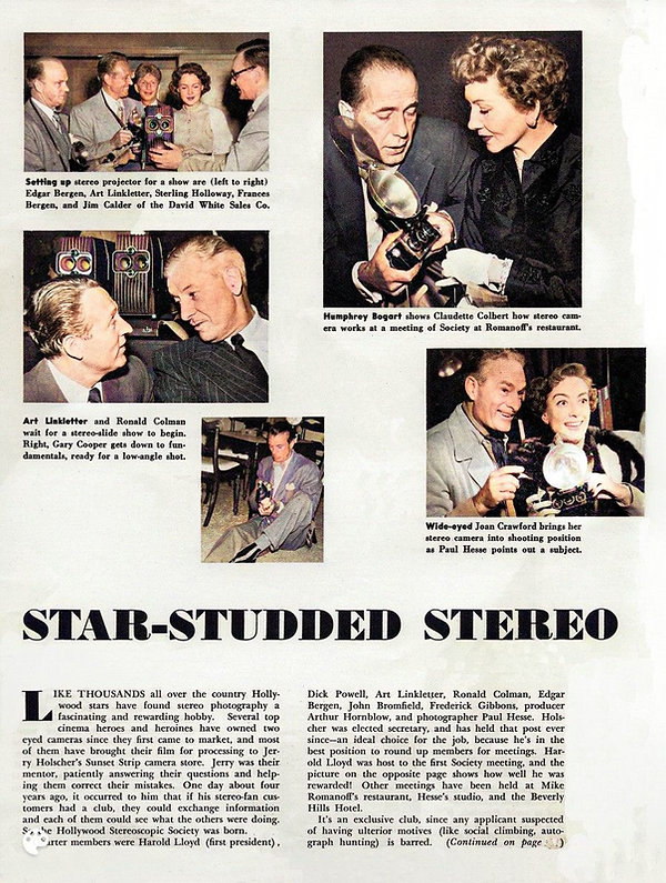 Beverly Hills Stereo camera club with Pa