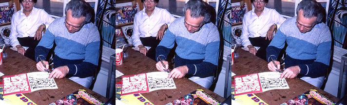 1982 Jack Kirby signing his new 3-D comi