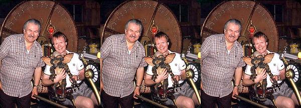 1983 Bob Burns and David Hutchison holdi