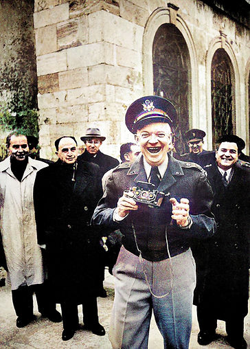 General Dwight D Eisenhower happy with h