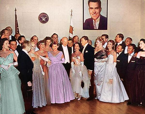 1953_01_20 Ike and Mamie Eisenhower with Guy Lombardo, Fred Waring, Jeanette MacDonald, Li