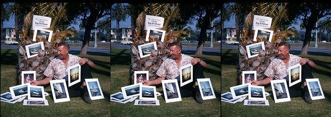 GeorgeMann_Dec_1964_selling_prints_in_Sa