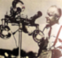 William Gruber with camera set up to pho