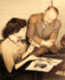 William Gruber with employee Elsie May-C