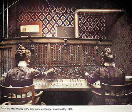 1900 Image of telephone exchange from Ph
