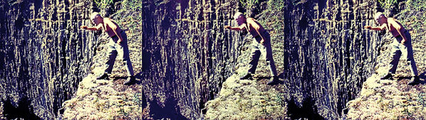 William Gruber at the edge of a precipic
