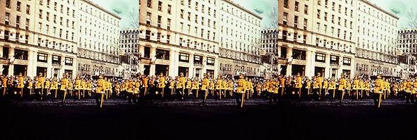 IkeParalIke Inaugural Parade with yellow jacketed men.jpg