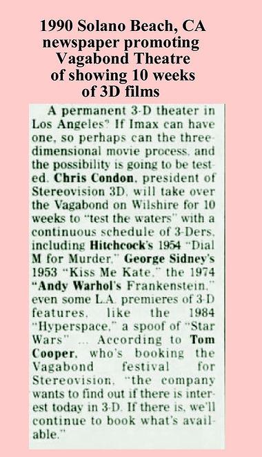 1990 Solano Beach, CA paper promoting Va