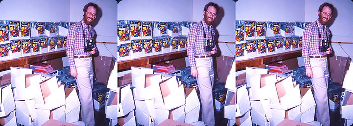 1982 David Starkman in the packaging dep