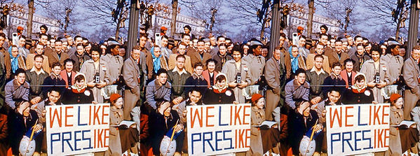 Sidewalk teenagers like Ike Inaugural Parade No 23.jpg