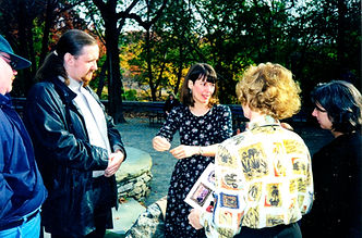 2000 Susan Pinsky and friends at Hutch's