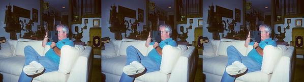 1993 Mike Kessler in living room looking