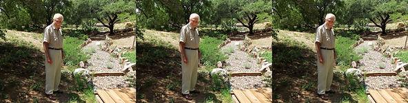 2012 Charley van Pelt in his yard in Jul